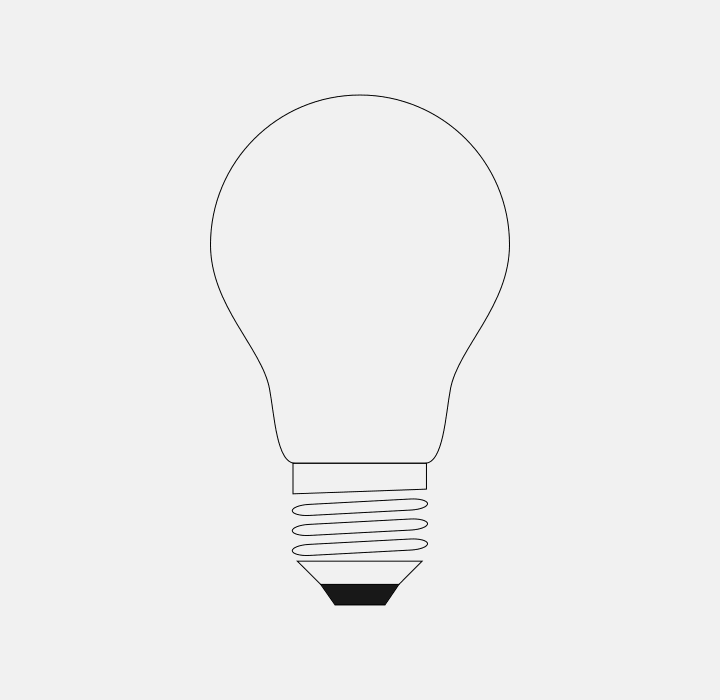 Completed lightbulb icon