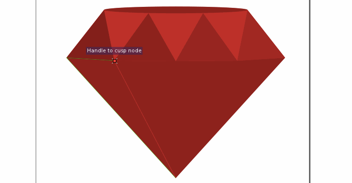 Draw new triangles using existing triangles as snapping guides