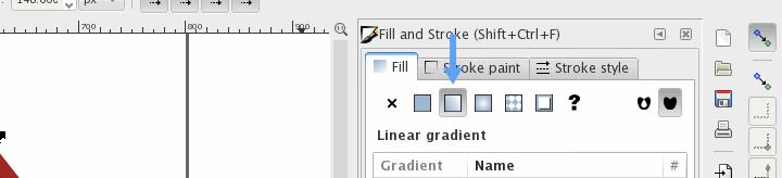 Select gradient fill